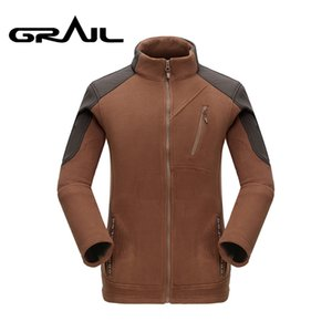 GRAIL Marca Softshell Outdoor Men Thicken Quente Polar Jaqueta de lã para revestimento dos homens Polartec Coats Windstopper Outwear Clothing5327A