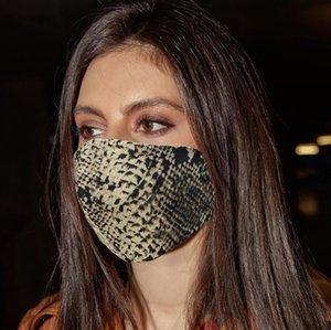 3D leopardo imprimió la mascarilla del verano de las mujeres de Sunproof a prueba de polvo anti-vaho Haze Máscaras boca cubierta unisex transpirable lavable respirador 5 colores