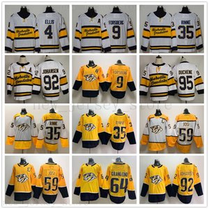 2020 Winter Classic Nashville Predators camisetas de hockey 9 Filip Forsberg 35 Pekka Rinne 59 Romano Josi 4 Ryan Ellis Ryan Johansen Matt Duchene