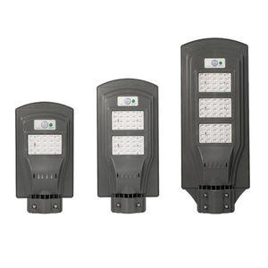 وقوف السيارات إضاءة LED لوط - 20W الطاقة الشمسية أضواء الشوارع مع رادار الاستشعار، مصباح مشرق للماء IP65 سوبر مع شرطة التدخل السريع استشعار الحركة