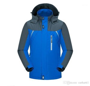 Outdoor Jacket Hooded Long Sleeve Pocket Zipper Sport Style Homme Clothing Mens Autumm Hat Detachable Solid Color