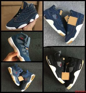 2019 New 4 6 11 13 Denim LS Travis Men Basketball Shoes Mens Blue Jeans 4s 11s 13s Sneakers designer jumpman Trainers Sports Chaussures