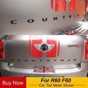 Araba Kuyruk Metal 3D Mektupları Sticker Ve Amblemi Bagaj İçin MINI Cooper Countryman R60 F60 Araç Şekillendirici Aksesuarları