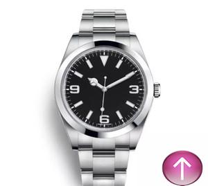 NUOVA marca RX Explorer quadrante nero in acciaio inossidabile automatico Data casuale Reloj De Lujo montre Relojes De Mens orologio di lusso.