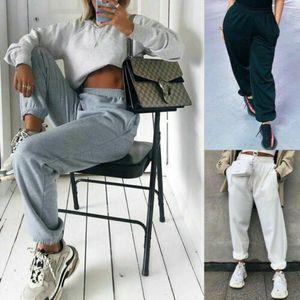 Hirigin Женщины Дамы Gym Спорт Jogger шаровары Sweatpants Танцевальные брюки шаровары