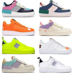 2020 PEACEMINUSONE X Forze Mid Scarpe da corsa a buon mercato WMNS Ombra Tropical Twist Sneaker Trainer All White Low Cut One 1 Scarpe Dunk Outdoor