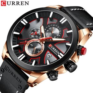 water proof Watch Chronograph Sport Mens Watches Quartz Clock Leather Male Wristwatch Relogio Masculino Fashion Gift for Men