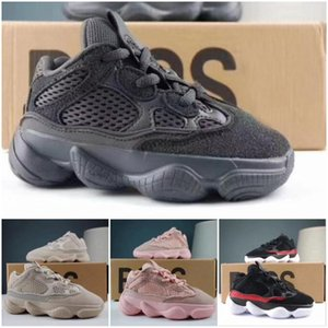 New Baby Kids Shoes Wave Runner 500 Running Shoes Girl Boy Trainer Sport Shoe Kanye West Sneakers Children Athletic Shoes Black