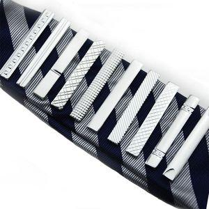 Strap Groove Diamond Short Tie Clips Abiti da lavoro Camicia Cravatta Tie Bars Gioielli moda per uomo Will and sandy Drop Ship 070004