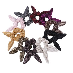 Creative Cloth Hair Ties Solid Color Hair Ropes Knotted Rabbit Ear Scrunchies Streamer Ponytail Holder Female Hair Accessories