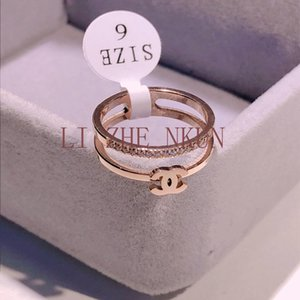 Top Luxury Design Ring High Quality Titanium Steel Rose Gold Ring for Woman Ring Fashion Fashion Accessories Supply Wholesale