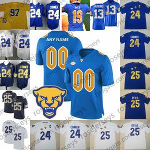2019 Nouvelle arrivée Pittsburgh Panthers # 24 Conner de Football Maillots Pitt 13 Dan Marino 25 Darrelle Revis LeSean McCoy Cousu NCAA Vintage 4XL