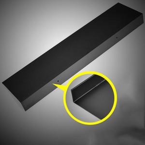 Black Bathroom Shelf Wall Mount Shelving Space Saving Rustproof Extra Strong Floating Shelves Storage Rack(50cm)