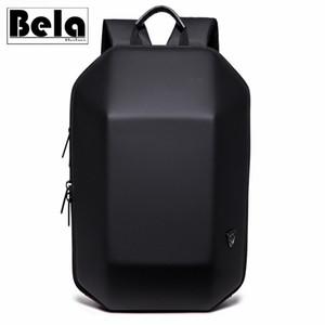 BelaBolso Sert Kabuk Tasarım Sırt Çantası Man USB Şarj Laptop Sırt Çantası Erkek Moda Seyahat Çantaları Yeni Okul Çantası Su geçirmez HMB699
