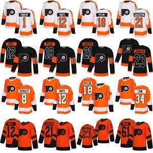 Kundenspezifische Philadelphia-Flyer # 13 Lil Peep Fashion Star Hockey-Trikots 11 Travis Konecny 12 Michael Raffl 13 Kevin Hayes 18 Tyler Pitlick