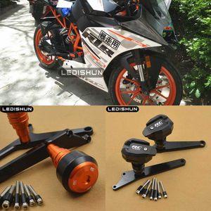 Para RC390 RC 390 motocicletas deslizadores marco regulador de la Guardia de protección del motor Cubierta de protección Falling