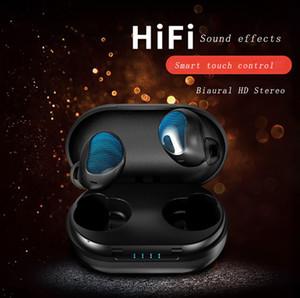 상자 이어폰 충전과 무선 Biaural 스마트 블루투스 5.0 헤드폰베이스 스테레오 노이즈 제거 방수 헤드셋 시리 음성 지원
