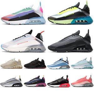 2090 для мужской обуви на плоской подошве Смит Red Blue Silver тройной белый черный женские кроссовки Открытый повседневная обувь размер 36-45