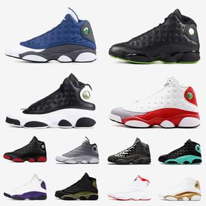 العلامة التجارية Jumpman 13 رجل إمرأة أحذية كرة السلة 13S XIII المدرب فلينت الحب احترام الأسود كاب وثوب الرياضة أحذية رياضية