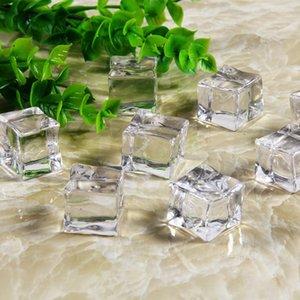 25mm 5 unids Reutilizable Falsos Cubos de Hielo Acrílico Artificial Cubos de Cristal Decoración Del Banquete de Boda Whisky Bebidas Mostrar Fotografía Apoyos