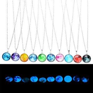 Charms Luminous Moon Pendente Collana Maglione Catenina Choker Glow in The Dark Magico Collana Fata per Monili Delle Ragazze Delle Donne 11 Stili M96F