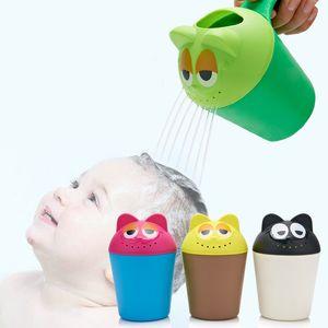 Bambini Baby Cartoon Bathing Cup Neonato Doccia di plastica Shampoo Cup Bailer Baby Shower Water Spoon Bath Wash