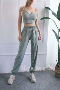 2020 Lulu Fitness lu Pants Women Waist Seamless Gym Capri Sport dehnbare Hose schiebenlululemonFrauen Yoga Pants #Lemon