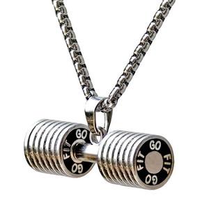 Нержавеющая сталь Гантели ожерелье для женщин Бодибилдинг Gym Вес Crossfit Штанга Ожерелье Фитнес Ювелирные изделия