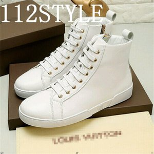 19FS luxurious Casual Sneakers High Top Shoes Men White Sport Shoes 2020 New Arrival Ankle Boots Leather Sneakers Male Shoes US6-11