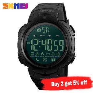 SKMEI Mode Smart Watch Männer Calorie Wecker Bluetooth Uhren 5Bar wasserdichte intelligente Digitaluhr Relogio Masculino 1301