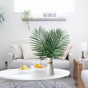 Искусственная большая Пальма искусственные тропические пальмовые листья поддельные листья растений зеленая зелень для цветов композиция свадьба главная вечеринка декор LXL829-