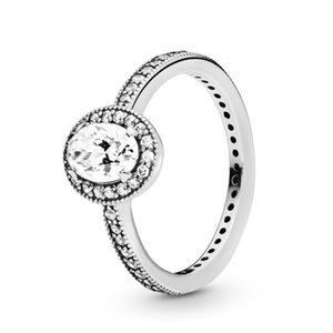 925 Sterling Silver Vintage Elegance Oval Sparkle Halo Ring Cubic Zirconia Diamond Women Wedding Rings sets with Pandora Original Gift Box