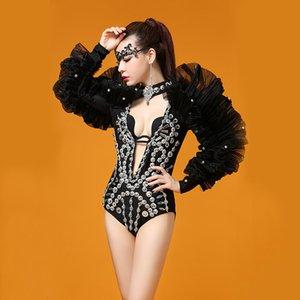 Z41 Ballsaal Pole Dance Kostüme sexy Bühne Body Party Outfit kleiden DJ Kleider Overall Sänger Host Leistung trägt Disco Outfits Bar