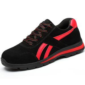 Mens Steel Toe 작업 안전 신발 경량 통기성 Anti-smashing Anti-puncture 정전기 방지 Protective Men 's Steel Toe 작업 안전 신발