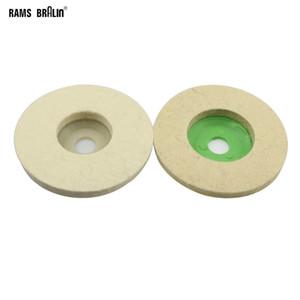 "1 pieza Diámetro 4"" / 100 mm de lana de fieltro Fine Polishing Angle Grinder Flap Disc"