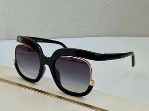 Kadınlar Moda Güneş 863s Black Gold / Gri Gölgeli Antik des lunettes de soleil kadın güneş gözlüğü yeni Kutusu