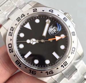 Tabie821219 Popolare orologi di alta qualità ROL EXP 216570 Nero 40mm Sapphire 316 Acciaio con GMT Dial 316 Bracciale in acciaio di alta qualità Watche