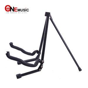 Stand per chitarra pieghevole portatile Full Metal Style compatto con borsa nera