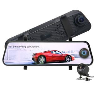"""10"""" IPS-Touch-Panel-Auto-Recorder DVR vorne Rückspiegel Video-Streaming 170 ° hinten 140 ° weiten Blickwinkel klar Nachtsicht"""
