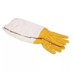 1pair protective vented long sleeves goatskin bee keeping tool beekeeping gloves pet farm products supplies