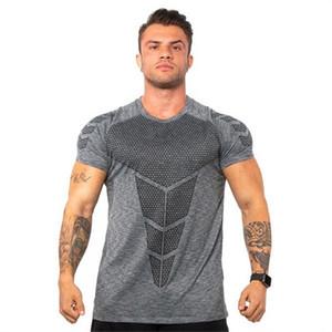 New summer Gym t shirt Mens Quick Dry Sport Shirt Tight Fitness Running shirts Men Casual T Shirt Jogging Training Sportswear tshirt