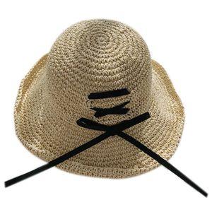 Handmade Straw Hat Korean Version Of The Big Niece Fisherman Hat Holiday Sun Visor Bow Beach Sun Hat Folding