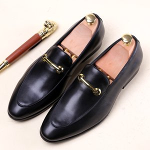Men's Leather Shoes Business Formal Wear Men Shoes Genuine Leather Wedding Shoes