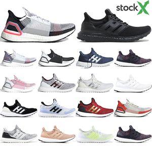 Adidas Ultra boost 19 pas cher chaussures de course pour hommes femmes Cloud blanc noir ultraboost formateur respirant coureur sport baskets