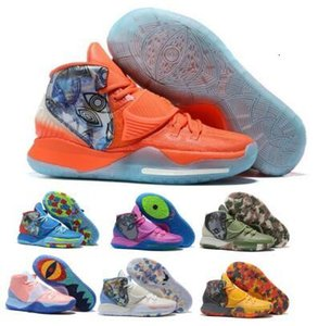 2020 Kyrie Mens Basketball Shoes 6 Tokyo Manila Concepts Khepri NYC Preheat Collection Enlightenment Jet Orange 6s Designer Shoes Sneakers