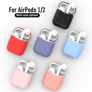 Süßigkeit-Farben-weiche Silikon-Kasten für Apple-Air-Hülsen 2 Fälle für AirPods 2 Silm Stoß- Kopfhörer Schutzhülle Zubehör