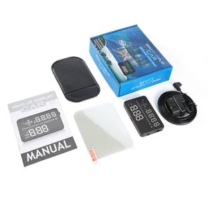 """Universal 3.5"""" Car A3 Hud Head Up Display with OBD2 OverSpeed Warning Plug & Play Vehicle Speed Engine Speed Water Temperature"""