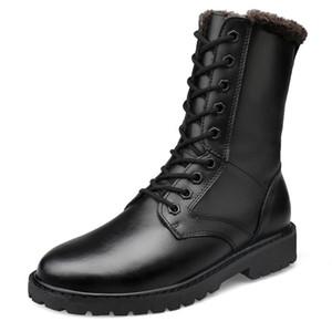 Enormi stivali di pelle autentico uomo tronchetti pattini di formato unisex con stivali scarpe outdoor interna con cerniera esercito per viaggiare scarpe di cotone zy567