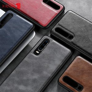 X-LEVEL Earl Series For HUAWEI P20 P20PRO P30 P30PRO cover Leather Case Luxury Ultra Light Soft Silicone edge Shockproof Cover