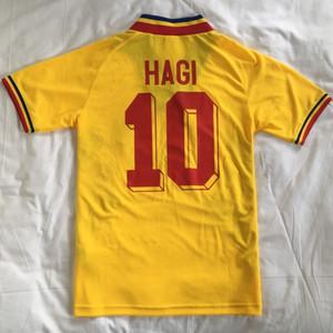 RETRO AWAY 1994 VINTAGE HOME ROMANIA Thailand HAGI Quality soccer jerseys uniforms Football Jerseys shirt Embroidery camiseta futbol